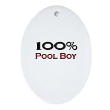 100 Percent Pool Boy Oval Ornament