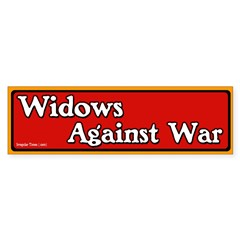 Widows Against War Bumper Bumper Sticker