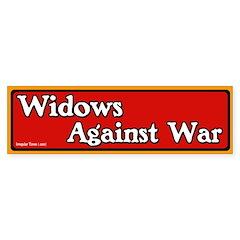 Widows Against War Bumper Bumper Sticker
