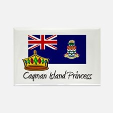 Cayman Island Princess Rectangle Magnet