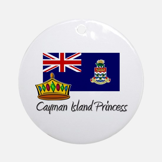Cayman Island Princess Ornament (Round)