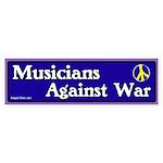 Musicians against war bumper sticker