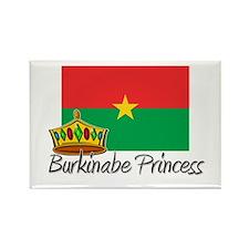 Burkinabe Princess Rectangle Magnet