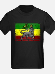 Grunge Rastafarian Flag T