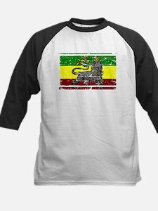 Grunge Rastafarian Flag Tee