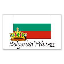Bulgarian Princess Rectangle Decal