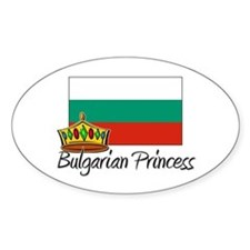 Bulgarian Princess Oval Decal