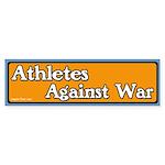 Athletes against war bumper sticker