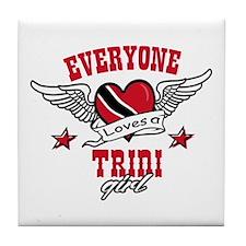 Everyone loves a Trini Girl Tile Coaster