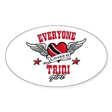 Everyone loves a Trini Girl Oval Decal