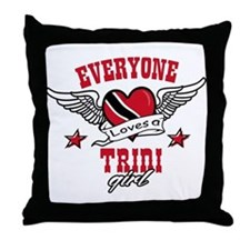 Everyone loves a Trini Girl Throw Pillow