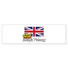 British Princess Bumper Bumper Sticker