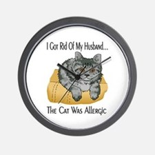 Cat Was Allergic Wall Clock