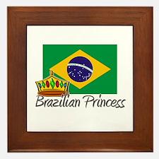 Brazilian Princess Framed Tile