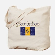 Bajan distressed flag Tote Bag