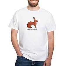 Belgian Hare Enthusiast White T-Shirt
