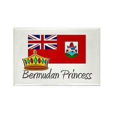 Bermudan Princess Rectangle Magnet