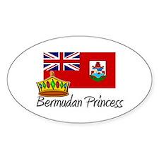 Bermudan Princess Oval Decal