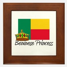 Beninese Princess Framed Tile