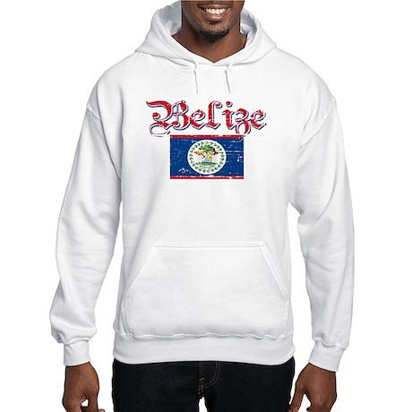 Belizean Flag Hooded Sweatshirt