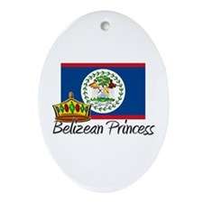 Belizean Princess Oval Ornament