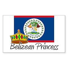 Belizean Princess Rectangle Decal