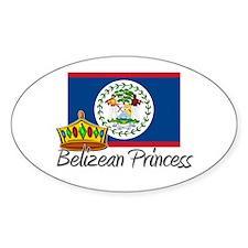 Belizean Princess Oval Decal