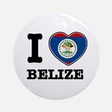 I love Belize Ornament (Round)