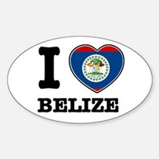 I love Belize Oval Decal