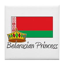 Belarusian Princess Tile Coaster