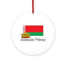 Belarusian Princess Ornament (Round)