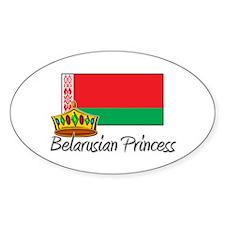 Belarusian Princess Oval Decal