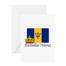 Barbadian Princess Greeting Card