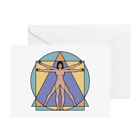 Vitruvian Woman Greeting Cards (Pk of 10)