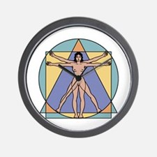 Vitruvian Woman Wall Clock