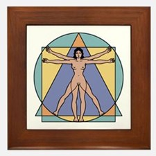 Vitruvian Woman Framed Tile