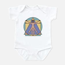 Vitruvian Woman Infant Bodysuit