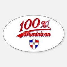 100% Dominican Oval Decal