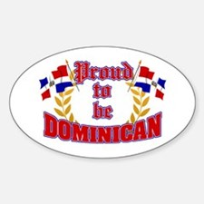 Proud to be Dominican Oval Decal