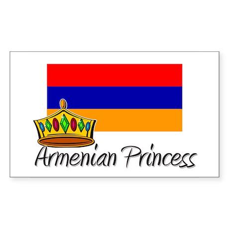 Armenian Princess Rectangle Sticker