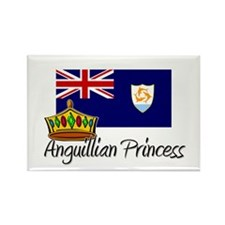 Anguillian Princess Rectangle Magnet