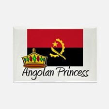 Angolan Princess Rectangle Magnet
