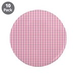 "Pink Plaid Tartan Gingham 3.5"" Button (10 pack)"