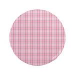 "Pink Plaid Tartan Gingham 3.5"" Button"