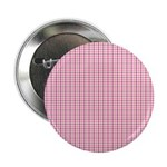 "Pink Plaid Tartan Gingham 2.25"" Button (100 pack)"