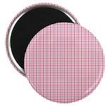 "Pink Plaid Tartan Gingham 2.25"" Magnet (10 pack)"