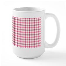 Pink Plaid Tartan Gingham Mug(15 oz)