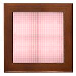 Pink Plaid Tartan Gingham Framed Tile