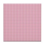 Pink Plaid Tartan Gingham Tile Drink Coaster