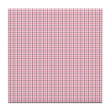 Pink Plaid Tartan Gingham Tile Drink Coaster